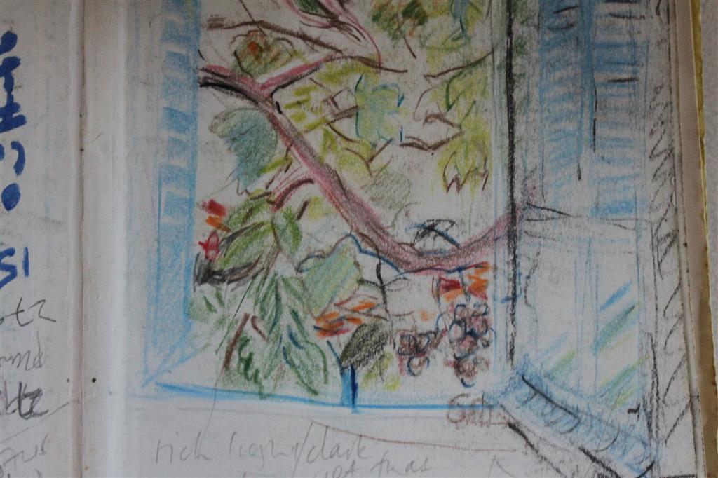 Detail sketch: Geronimo's window