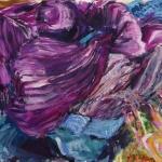 'Pile Of Sacrves' acrylic on canvas.