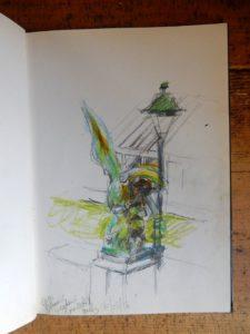 Eagle sketch botanic gardens brussels