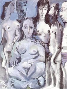 Picasso hommes et femmes nus smaller