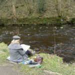 me on the river bank drawing