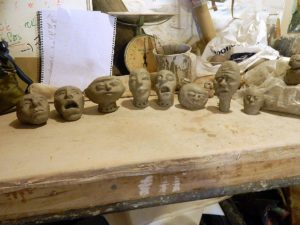 puppet heads all together in order I made them