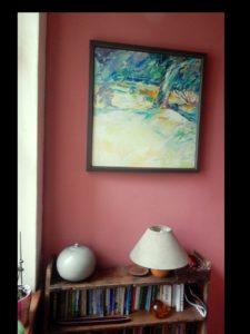 yellow garden framed in house